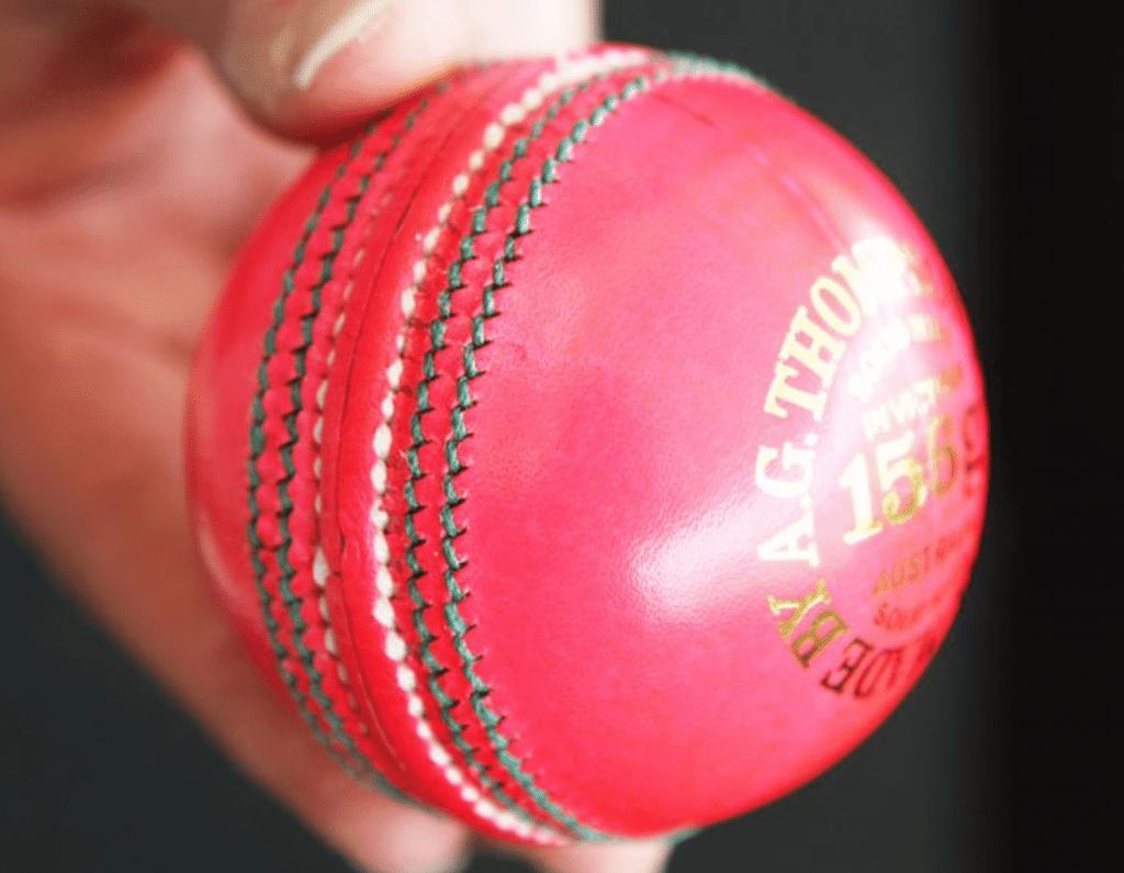 Bola rosa de críquete