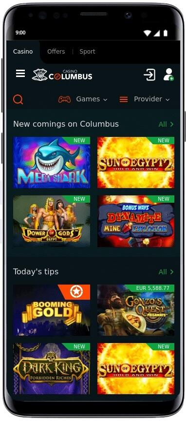 App do Cassino Columbus