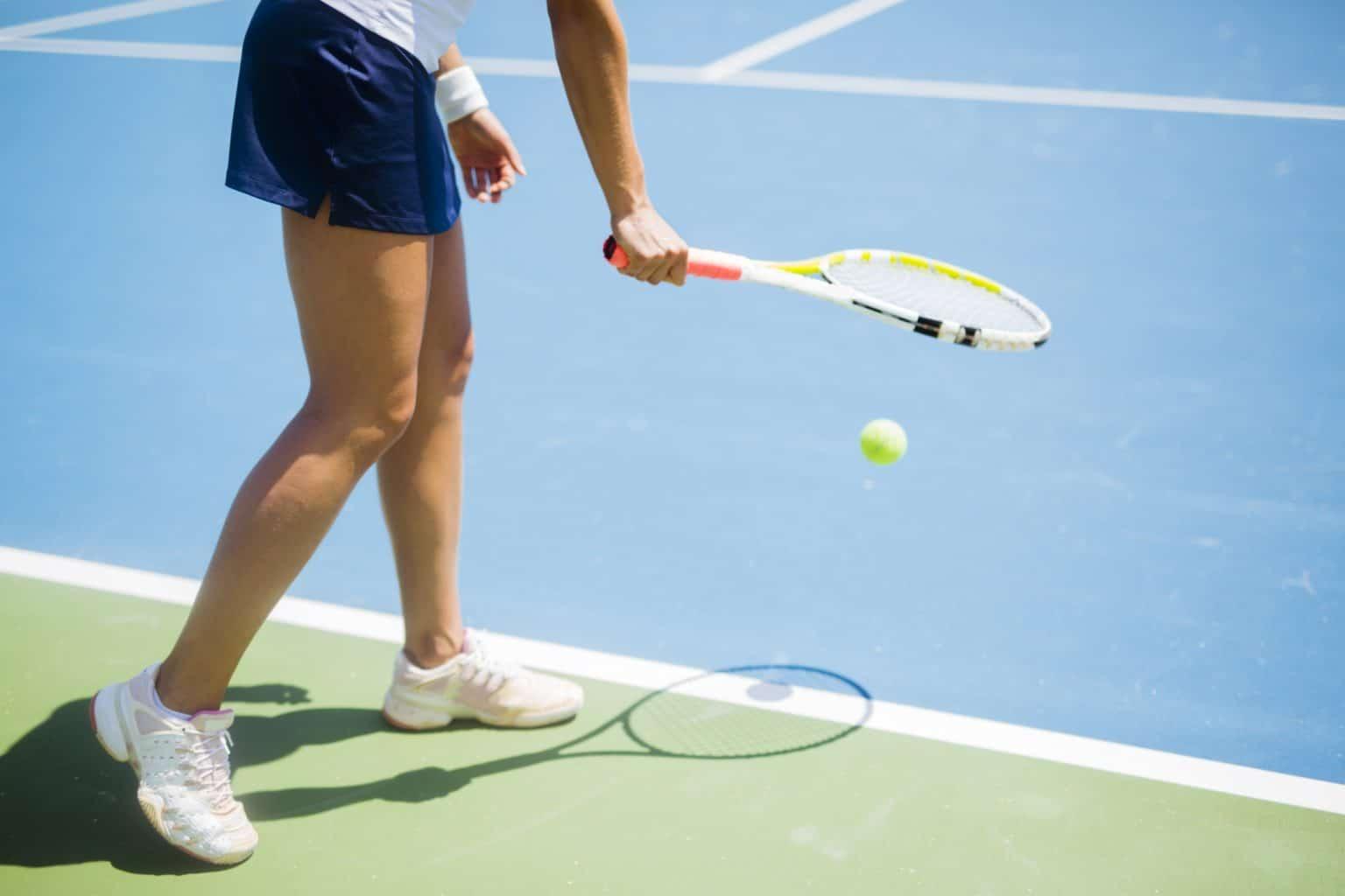 Tênis quicar a bola