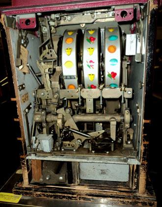 interior de uma máquina caça-níqueis