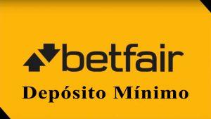 Depósito mínimo no Betfair